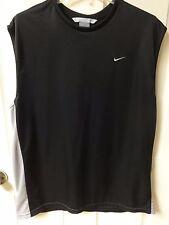 Vintage Nike Sleeveless Basketball Jersey Sewn Logos Size Men X-Large 100% Poly