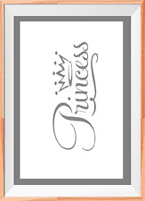 Princess Word Letters Kids A4 Mylar Reusable Stencil Airbrush Painting Art