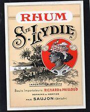 RHUM VIEILLE ETIQUETTE RONDE RHUM STE LYDIE RARE       §15/02§