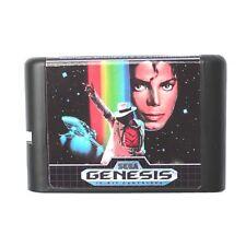 Games Cartridge - Michael Jackson's Moonwalker 16 bit MD Sega Mega Drive Genesis
