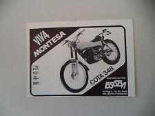 advertising Pubblicità 1978 MOTO MONTESA COTA 348