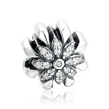 SC Daisy Flower Charm Bead 925 Sterling Silver Gift Packing Included
