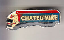 RARE PINS PIN'S .. CAMION TRUCK TRANSPORT CHATEL VIRE 14 EM ~CG
