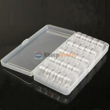 Empty Storage Organizer Cells Case Box 25 Jars for Nail Art Tips Tools Bead Gems