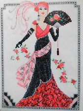 Stickvorlage,Cross Stitch,Kreuzstich,Point de Croix,Art-Deco-Lady,20-er Jahre