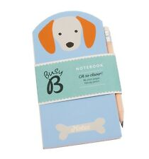 "Busy B ""Cute Dog"" Mini Notebook with Matching Pencil Latest Version"