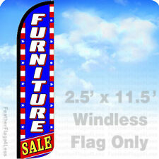 2.5x11.5' WINDLESS Swooper Feather Flag Banner Sign - FURNITURE SALE stars bz