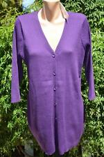 Rockmans 3/4 Sleeve LONG Rib Button Front Cardigan Size XL-18 NEW RRP$39.99