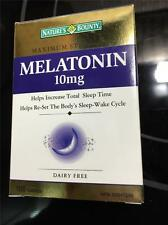 Nature's Bounty Melatonin MAXIMUM STR. 10mg 180 Tablets Sleeping Aid Sleep Pill