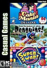 Casual Games Triple Pack Cake Mania Deluxe/Penguins/Super Swap by Viva Media