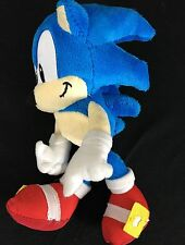 """Sega Sonic The Hedgehog 8"""" Plush Blue With Red Shoes Smile Smirk Ready to Go"""