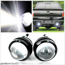 One Pair CREE Fisheye 12-24V White LED Car Reversing Parking Lights Tail Lamps