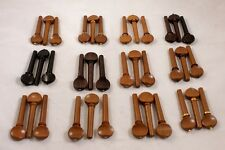 36 Mixed High Quality Viola Tuning Pegs, Boxwood, Rosewood, Ebony