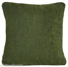 Green Cushion Cover Designers Guild Fabric Genova Olive Throw Pillow Case Plain