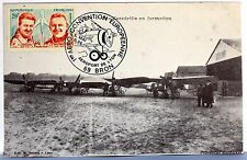BRON AVIATION AERO CONVENTION  AEROPORT DE LYON 1984  FRANCE  CARTE MAXIMUM AV74