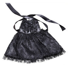 18 inch Handmade Black Lace Dolls Clothes Party Dresses For Barbie Dolls