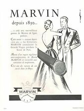 ▬► PUBLICITE ADVERTISING AD MONTRE WATCH MARVIN Depuis 1850