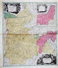 c1730 Oberbayern München Burghausen Kolorierte Kupferstich-Landkarte Homann