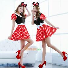 Sexy Christmas Mouse Women Xmas Costume Cosplay Dress Up Outfit Ear Clothe #ORP