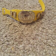 WWE Wrestling Jakks Yellow Classic Intercontinental Figure Belt Used