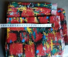 Tissu vintage des années 60/70 , lot de 3 tissus semblable rouge Alaska Boussac
