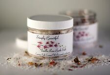 Simply Beautiful Vanilla Rose Bath Salts/Foot Soak 6oz Unisex/Vegan/Gift for her