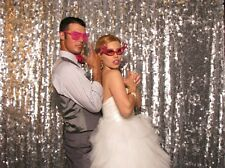 Sparkly Silver Sequin Glamorous Tablecloth/Backdrop for Wedding Decoration