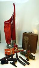 Vintage Red Kirby Classic III Upright Vacuum Cleaner with Attachments