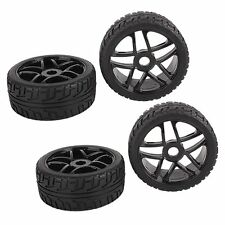 4pcs RC 1/8 On road Buggy Tires Hex 17mm Wheels for Redcat HPI Racing Car