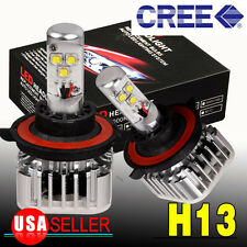 H13 9008 8000LM 60W CREE LED Headlight Kit High Low Beam Bulbs 6000K White HID