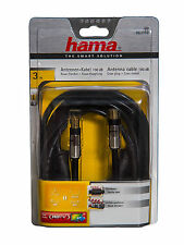 Hama ~ ULTRA HIGH END ANTENNEN-KABEL ~ 3m + 100dB + Ferritkern ~ koax Anschluss