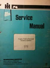 IH Cub Cadet Kohler Engine, Fuel & Electrical Service Manual Garden Tractor 82pg