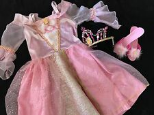 Disney Aurora Sleeping Beauty Costume 4-6/ 4 5 6 Crown Shoes Lot
