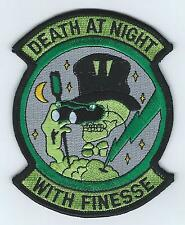 "90s 95th FIGHTER SQUADRON ""DEATH AT NIGHT WITH FINESSE"" #1 patch"