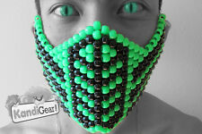 Kandi Gear - Reptile Mortal Kombat Kandi Mask Rave Wear, Rave Costume, Halloween
