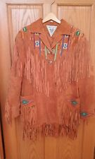 Suede Beaded Fringe Western Jacket, J. Percy for Marvin Richards, Size M