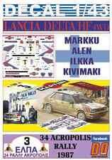 DECAL 1/43 LANCIA DELTA HF 4WD M.ALEN ACROPOLIS R. 1987 WINNER (02)