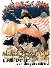 AD VINTAGE ABEL-TRUCHET HORSESHOE ENGLISH AMERICAN BAR PARIS PRINT POSTER LF201