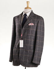 NWT $3095 LUCIANO BARBERA Gray Check Wool-Cashmere Sport Coat Slim 46 L (Eu 56)
