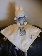 Dick Bruna Miffy White blue nijntje 1 Comforter Blankie doudou cuddly toy b4