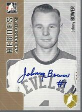Toronto Maple Leafs JOHNNY BOWER Signed Heroes & Prospects Card