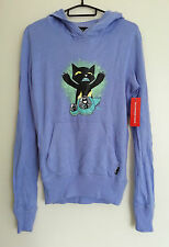 New Emily The Strange Cat Ears Hoodie Size Small Gothic Lolita Kitten Kitty