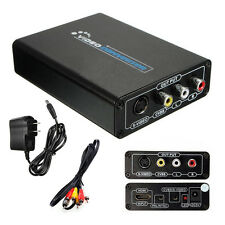 HDMI to 3RCA AV CVBS Composite & S-Video R/L Audio Converter Adapter Upscaler