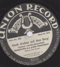 Bernard Ette Orchester mit Gesang Erich Bergau : Hoch droben auf dem Berg