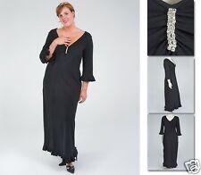 NEW!  Zaftique RHINESTONE RUFFLE Dress BLACK 1Z 3Z 4Z / 16 24 28 / XL 1X 3X 4X