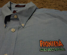 Mens FRONTERA MEX MEX GRILL Restaurant Short Sleeve Oxford Shirt Embroidered