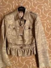 Burberry Gold  NWT Jacket  Size 4