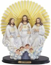 "10.5"" Statue Holy Trinity Father Son Holy Spirit Angel Jesus Christ Figurine"