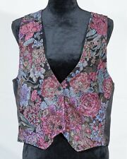 Vintage Lee Winters women vest tapestry floral retro 1980 size 12
