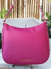 NWT AUTHENTIC JUICY COUTURE SAFFIANO COW LEATHER PINK FUSCHIA TOTE HANDBAG BAG
